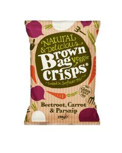 Brown Bag Crisps - Beetroot, Carrot & Parsnip Veggie Crisps - 10 x 120g