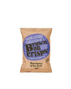 Brown Bag Crisps - Rosemary & Sea Salt Crisps - 20 x 40g