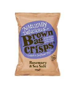 Brown Bag Crisps - Rosemary & Sea Salt Crisps - 10 x 150g