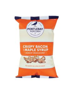 Portlebay Popcorn - Bacon & Maple Syrup Popcorn - 8 x 75g