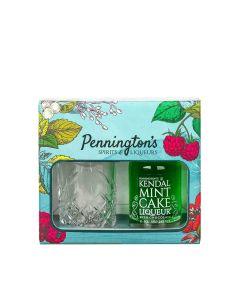 Pennington's Spirits - Kendal Mint Cake Liqueur 24% Abv & Glass Gift Set - 6 x 50ml
