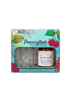 Pennington's Spirits - Bakewell Gin 20% Abv Liqueur & Glass Gift Set - 6 x 50ml
