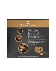 Porter Foods - Whole Natural Peeled Chestnuts - 12 x 200g