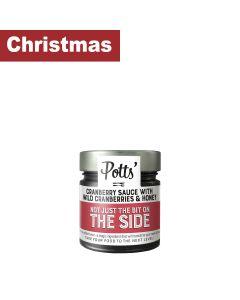 Potts - Cranberry Sauce with Wild Cranberries & Honey - 6 x 275g