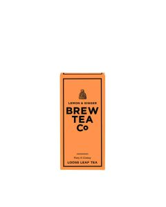 Brew Tea Co - Lemon & Ginger - 1/4lb Loose Leaf Tea - 6 x 113g