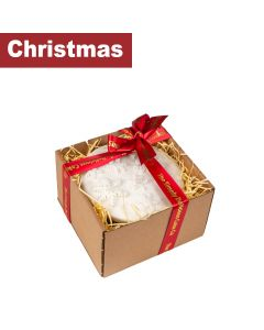 "The Simply Delicious Cake Co - Gift Box of 5"" Top-Iced Round Christmas Cake - 4 x 720g"