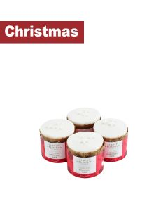 Simply Delicious Cake Co, The - Gluten Free Mini Round Iced Christmas Cakes - 12 x 150g
