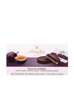 Anthon Berg - Plum in Madeira Marzipan & Dark Chocolate - 12 x 220g