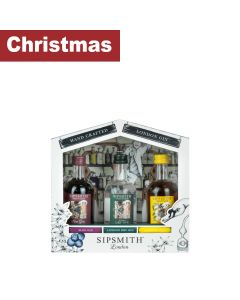 Sipsmith - Distillery Gift Set: Sloe Gin 29% abv, London Dry Gin 41.6% abv & London Cup gin 29.5% abv - 6 x (3 x 50ml) x