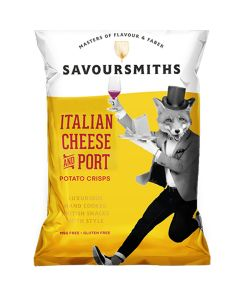 Savoursmiths - Italian Cheese & Port Crisps - 12 x 150g