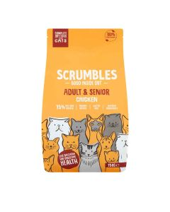 Scrumbles - Complete Dry Cat Food for Adult & Senior -  Chicken - 6 x 750g