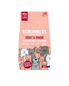 Scrumbles - Complete Dry Cat Food for Adult & Senior - Chicken with Salmon - 6 x 750g