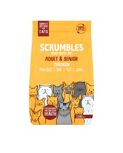 Scrumbles - Complete Dry Cat Food for Adult & Senior - Chicken - 4 x 2.5kg