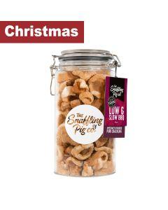 Snaffling Pig - Low & Slow BBQ Pork Crackling Gift Jar (PLASTIC) - 6 x 275g