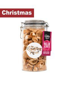 Snaffling Pig - Pigs in Blankets Pork Crackling Gift Jar (PLASTIC) - 6 x 275g