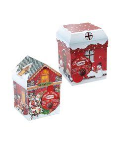 Sorini - Christmas Houses with Chocolate Cream & Puffed Rice - 8 x 150g