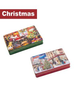 Sorini - Mixed Case of Christmas Time Tins filled with Chocolate Cream & Puffed Rice - 7 x 185g