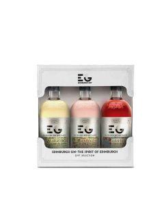 Edinburgh Gin - Gin Liqueur Gift Set of 3 Bottles 20% Abv - 32 x 50ml
