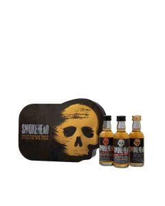 Smokehead - Gift Tin with Rum Rebel 46% Abv, High Voltage 58% Abv & Islay Single Malt Scotch Whisky 43% Abv - 24 x 50ml