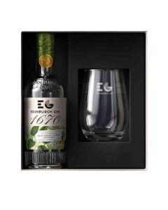 Edinburgh Gin - 1670 Gin 43% Abv & 1 Gin Glass - 12 x 200ml