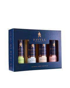Savyll - 4 Bottles of Alcohol Free Cocktails - Bon Vivant - 6 x (4 x 250ml)
