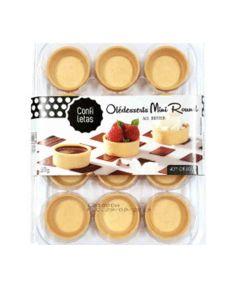 Confiletas - All Butter Mini Round Tartlets - 10 x 69g