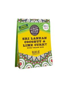 The Spice Sultan - Sri Lankan Coconut & Lime Curry with Yellow Rice Meal Kit - 8 x 27g