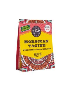 The Spice Sultan - Moroccan Tagine with Rose Petal Harissa Meal Kit - 8 x 26g