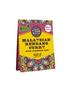 The Spice Sultan - Malaysian Rendang Curry with Tumeric Rice Meal Kit - 8 x 20g