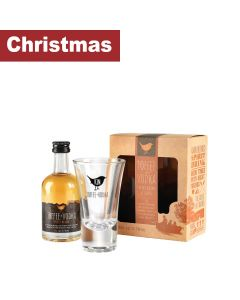 Kin Toffee Vodka - Gift pack with Toffee + Vodka Spirit Drink with Branded Glass - 6 x 50ml