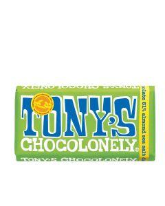 Tony's Chocolonely - Dark Chocolate, Almonds & Sea Salt - 15 x 180g