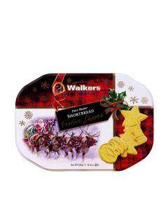 Walkers Shortbread - Festive Shapes Tin - 6 x 350g