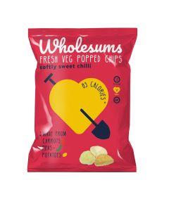 Wholesums - Softly Sweet Chilli Popped Veg Crisps - 8 x 80g