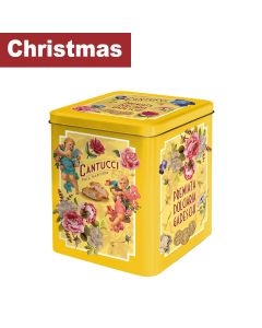 Gadeschi - Cantucci Biscuits in Yellow Flowers  Tin  - 4 x 500g