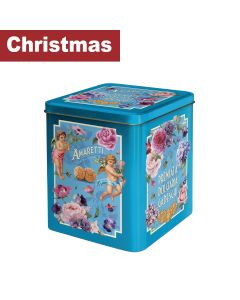 Gadeschi - Amaretti Biscuits in Blue Flowers Tin - 4 x 400g