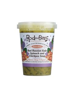 Rod and Ben's - Organic Red Russin Kale, Spinach and Chickpea soup  - 6 x 600g (Min 16 DSL)