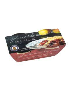 Buxton Pudding Company - Apple & Blackcurrant Oaty Crumble Twin Pot - 8 x g (Min 30 DSL)