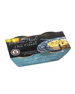 Buxton Pudding Company - Bramley Apple Oaty Crumble Twin Pot - 8 x g (Min 30 DSL)