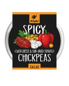 Delphi Foods - Medium Hot Chickpea Salad - 6 x 220g (Min 21 DSL)