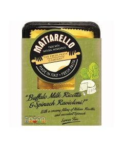 Mattarello - Buffalo Milk Ricotta & Spinach Ravioloni - 6 x 250g (Min 19 DSL)