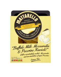 Mattarello -  Buffalo Milk Mozzarella & Pecorino Ravioli - 6 x 250g (Min 19 DSL)