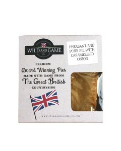Wild and Game - Pheasant and Pork Pie with Caramelised Onion - 6 x 160g (Min 5 DSL)