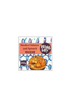 Higgidy - Spinach & Smoked Salmon Quiche  - 6 x 400g (Min 4 DSL)