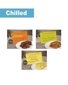 Hunter's Puddings - Gluten free Pudding Selection Pack - 6 x 250g - 40 DSL