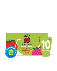 Innocent - Kids Strawberry & Raspberry smoothie wedge  (15 min DSL) - 5 x 4 x 150ml