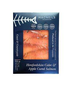 Macneil's Smokehouse - Sliced Cider & Apple Cure Salmon (16 min DSL) - 6 x 100g
