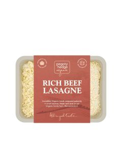 Pegoty Hedge - Organic Beef Lasagne for Two - 3 x 800g (Min 7 DSL)