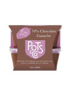 Pots & Co  - 4x Little Pots of 70% Chocolate Ganache - 4 x 200g (Min 13 DSL)