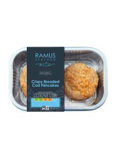 Ramus Fresh - Crispy Breaded Cod Fishcakes - 4 x 180g (Min 6 DSL)
