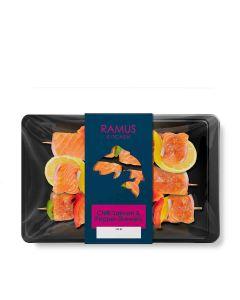 Ramus Seafood - Chilli Salmon & Pepper Skewers - 4 x 240g (Min 4 DSL)